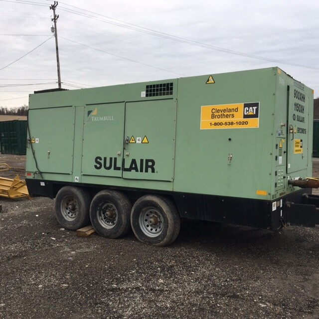 Profile View of Sullair Portable Air Compressor